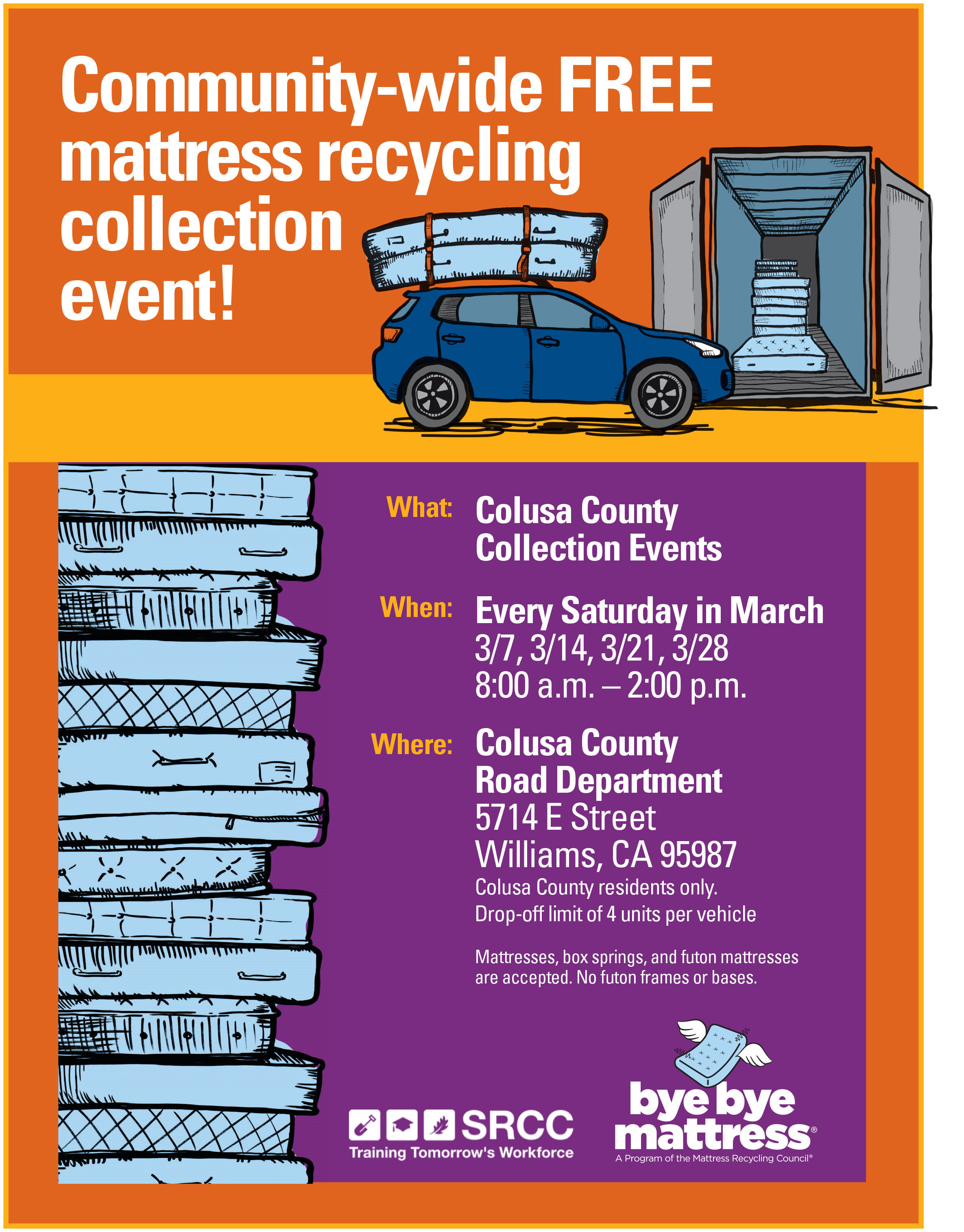 Mattress Recycling Collection Flyer 2020