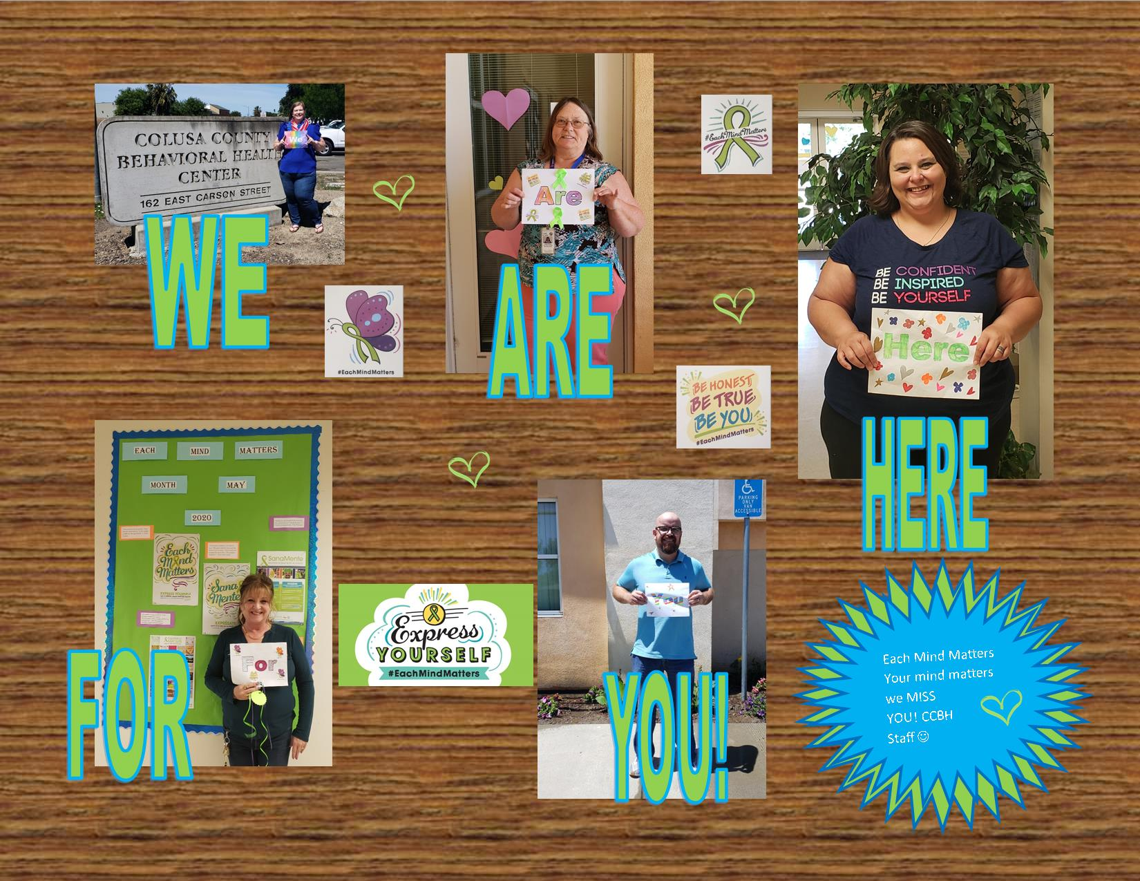 We Are Here For You Collage