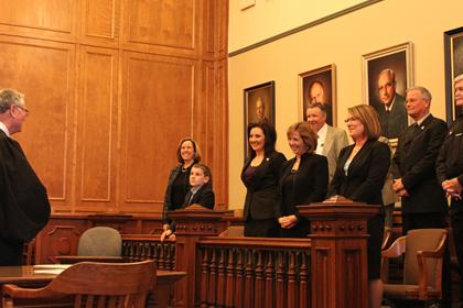 County Officials take Oath of Office, 2011