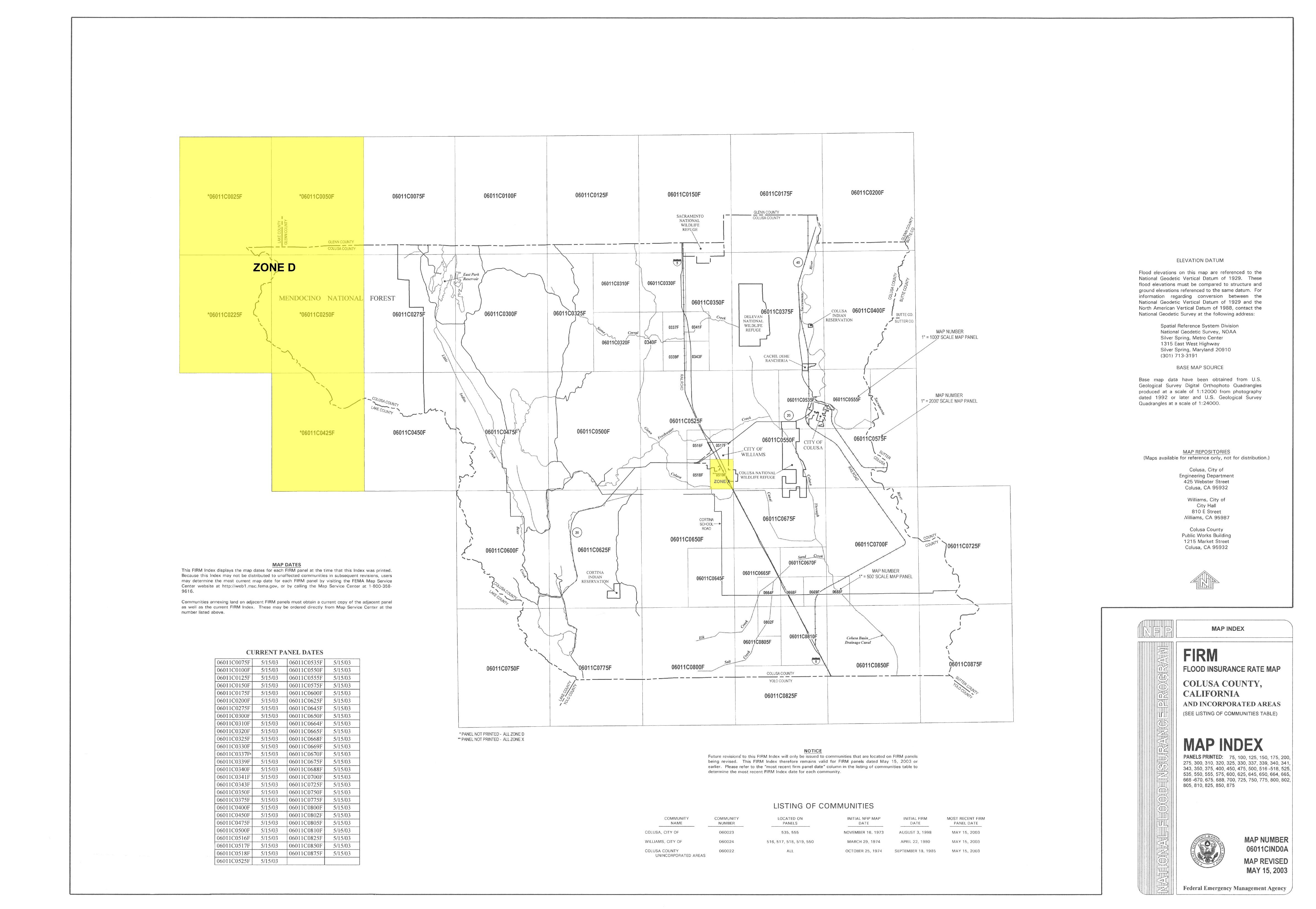 Colusa County CA Official Website Flood Insurance Rate Maps FIRMs - National flood insurance maps